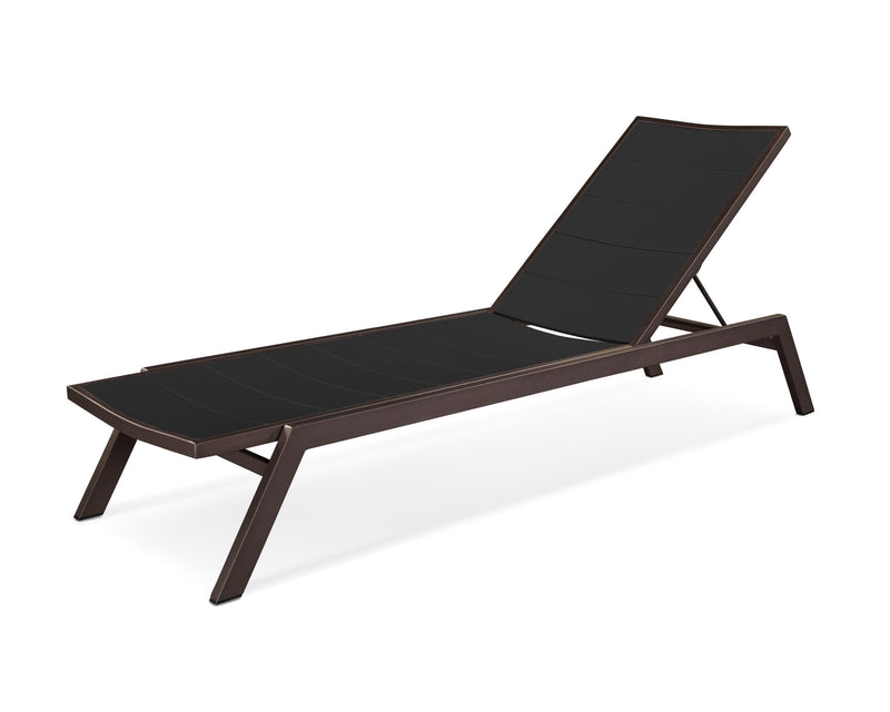 AC120-16MBL Metro Chaise in Textured Bronze and Black