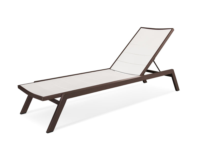 AC120-16MWH Metro Chaise in Textured Bronze and White