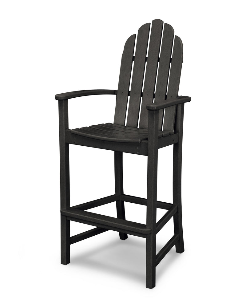 ADD202BL Classic Adirondack Bar Chair in Black