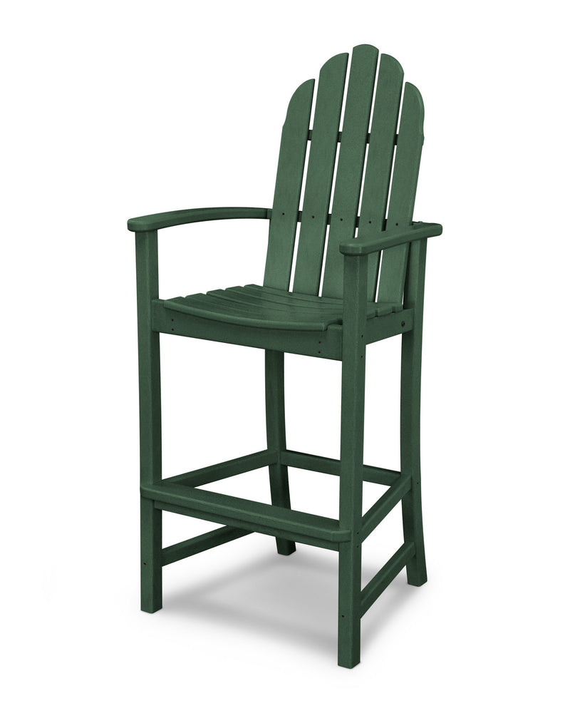 ADD202GR Classic Adirondack Bar Chair in Green