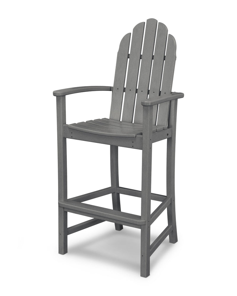 ADD202GY Classic Adirondack Bar Chair in Slate Grey