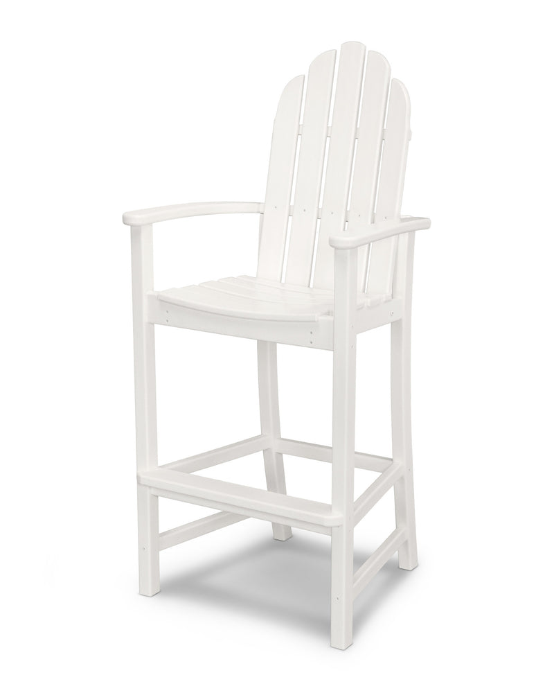 ADD202WH Classic Adirondack Bar Chair in White