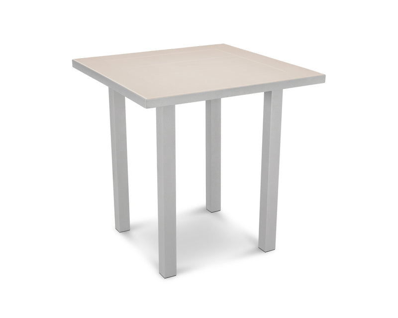 "AT121-11MSA Euro SOLID 36"" Counter Table in Textured Silver and Sand"