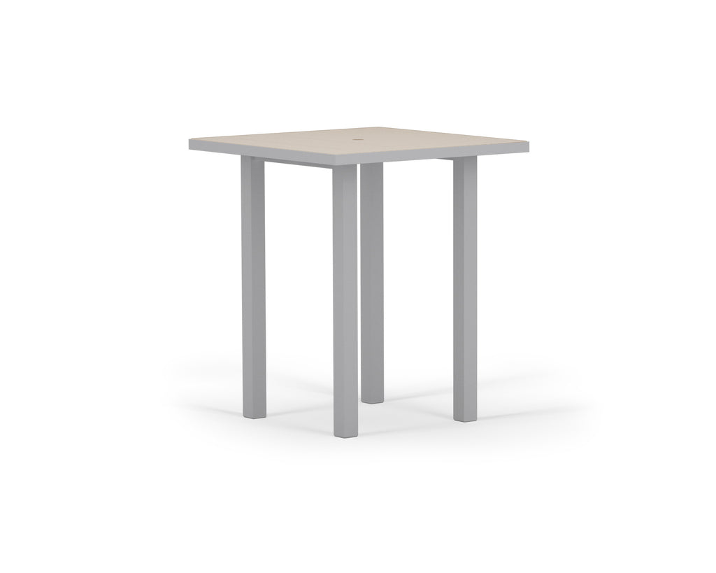 "AT122-11MSA Euro SOLID 36"" Bar Table in Textured Silver and Sand"