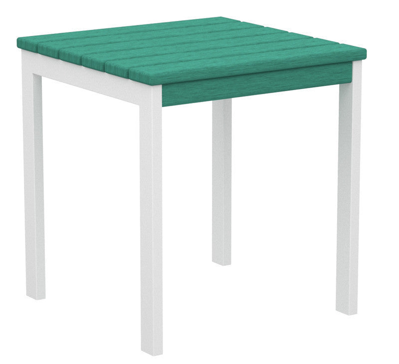 "AT18-13AR Euro 18"" Side Table in Satin White and Aruba"
