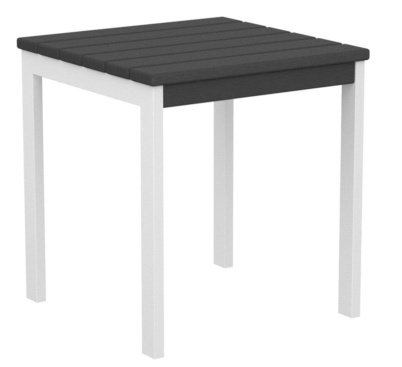 "AT18-13GY Euro 18"" Side Table in Satin White and Slate Grey"