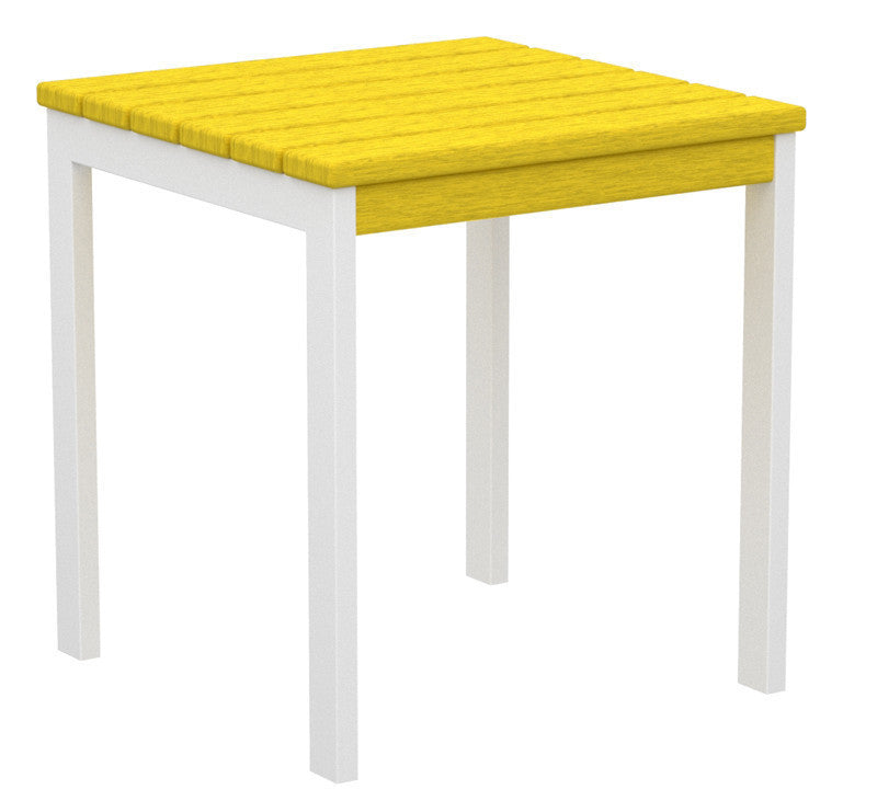 "AT18-13LE Euro 18"" Side Table in Satin White and Lemon"