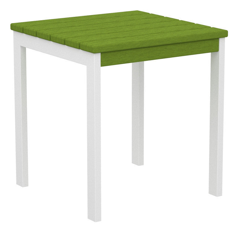 "AT18-13LI Euro 18"" Side Table in Satin White and Lime"