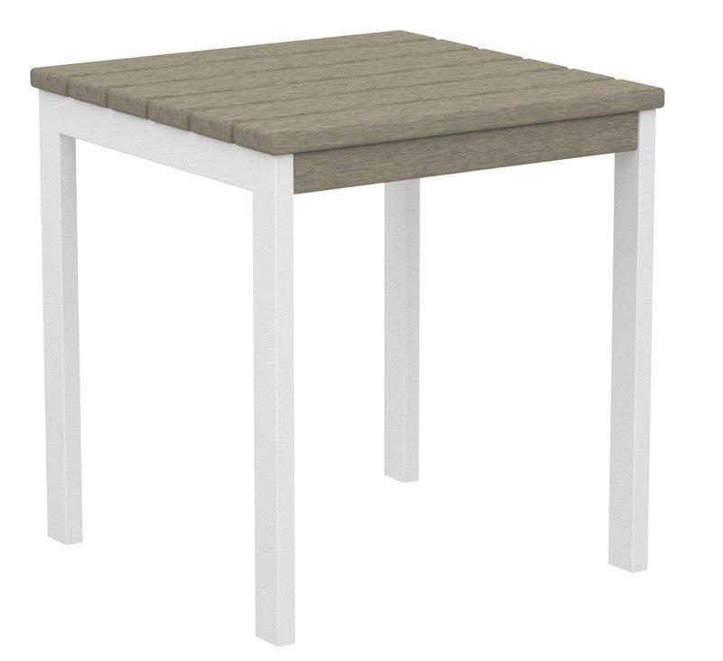 "AT18-13SA Euro 18"" Side Table in Satin White and Sand"