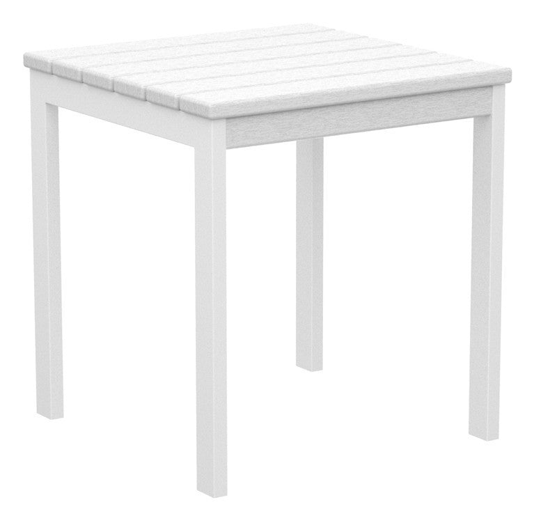 "AT18-13WH Euro 18"" Side Table in Satin White and White"