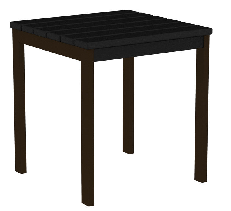 "AT18-16BL Euro 18"" Side Table in Textured Bronze and Black"