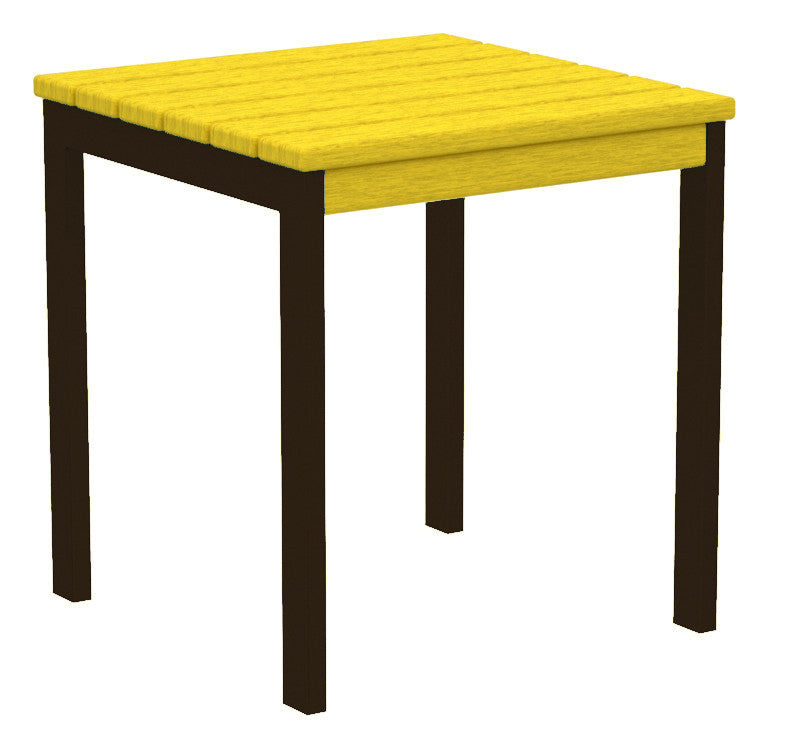 "AT18-16LE Euro 18"" Side Table in Textured Bronze and Lemon"