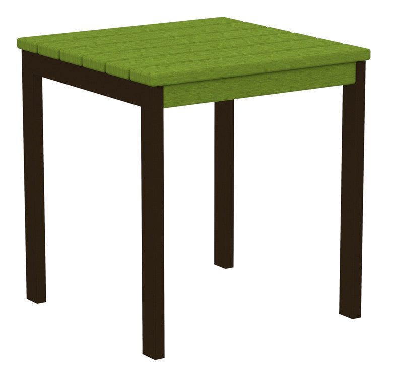 "AT18-16LI Euro 18"" Side Table in Textured Bronze and Lime"