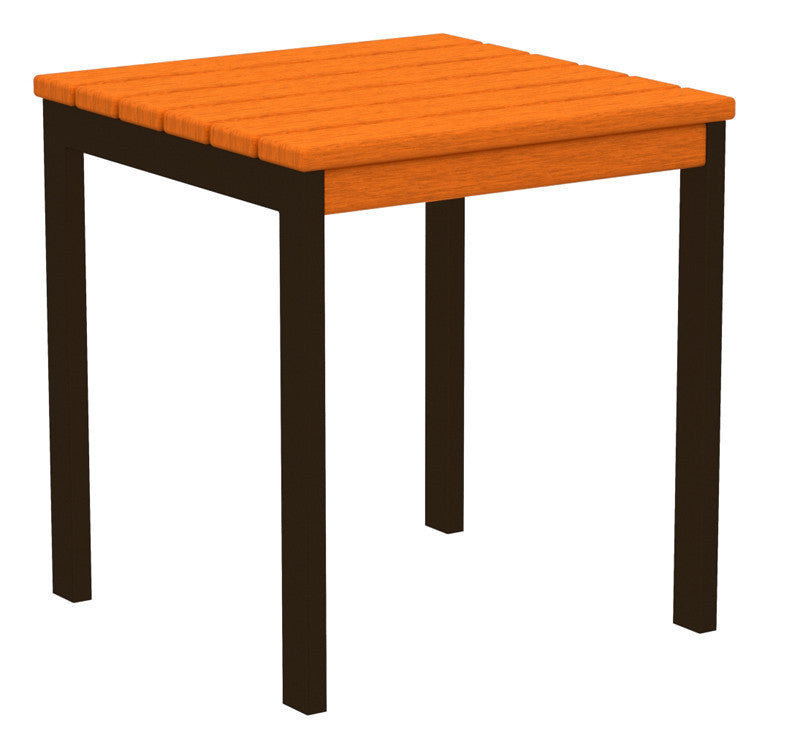 "AT18-16TA Euro 18"" Side Table in Textured Bronze and Tangerine"