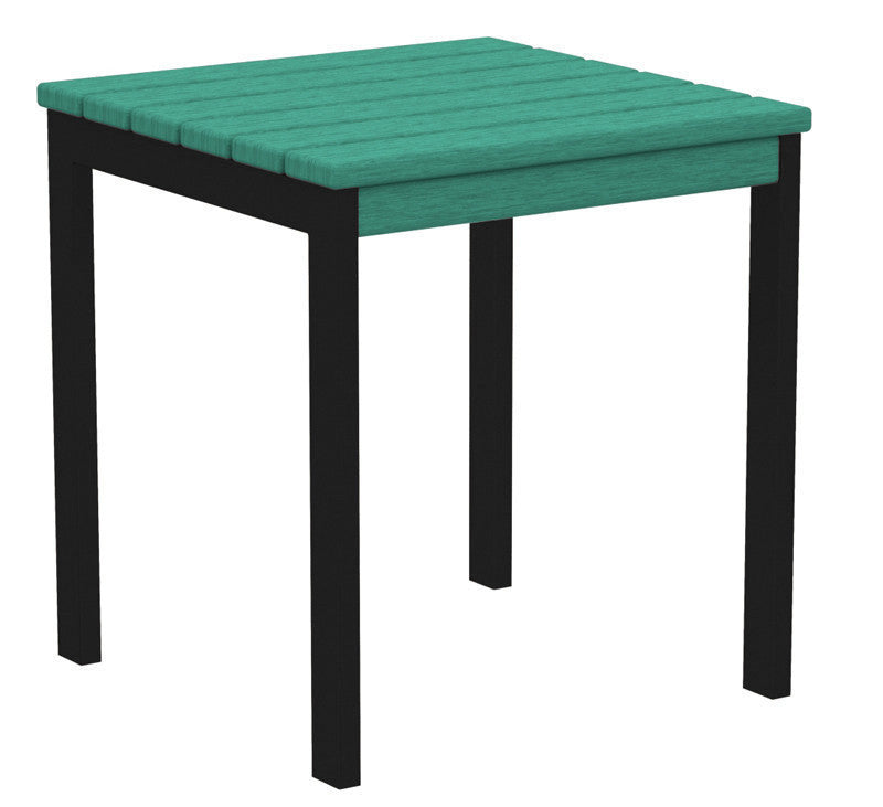 "AT18FABAR Euro 18"" Side Table in Textured Black and Aruba"
