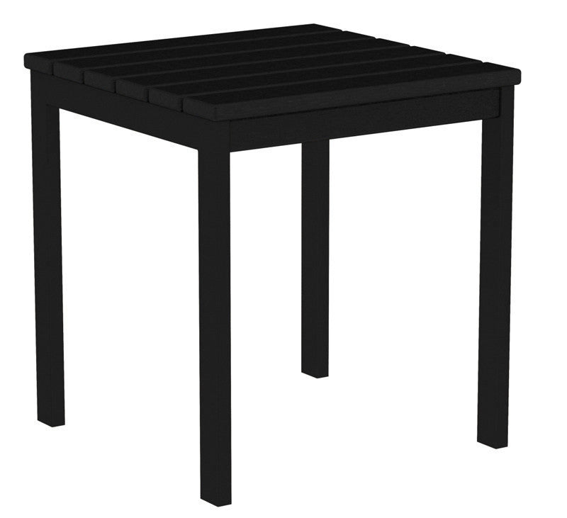 "AT18FABBL Euro 18"" Side Table in Textured Black and Black"