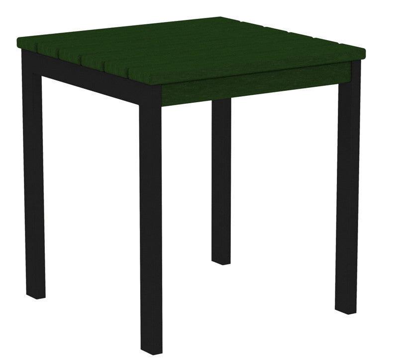 "AT18FABGR Euro 18"" Side Table in Textured Black and Green"