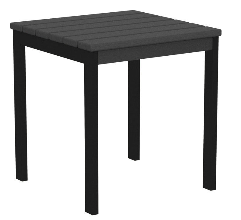 "AT18FABGY Euro 18"" Side Table in Textured Black and Slate Grey"