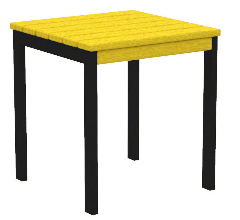 "AT18FABLE Euro 18"" Side Table in Textured Black and Lemon"