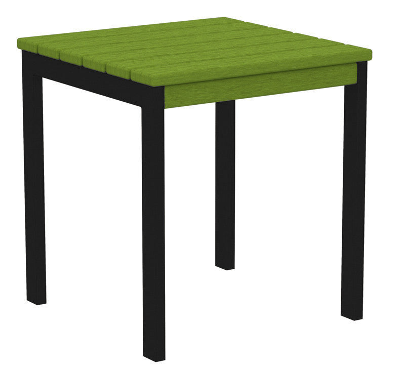 "AT18FABLI Euro 18"" Side Table in Textured Black and Lime"