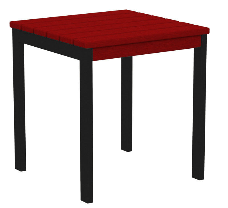 "AT18FABSR Euro 18"" Side Table in Textured Black and Sunset Red"