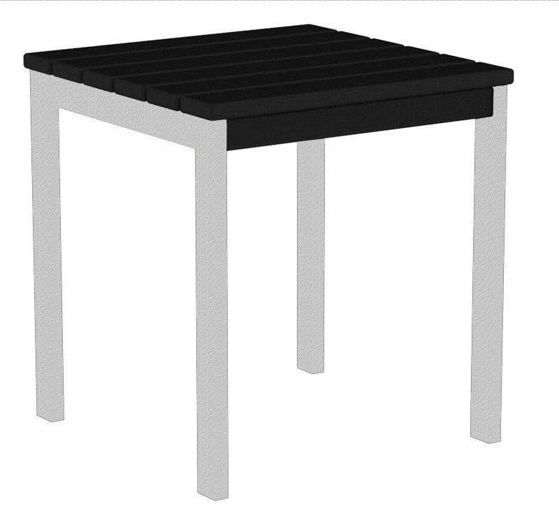 "AT18FASBL Euro 18"" Side Table in Textured Silver and Black"
