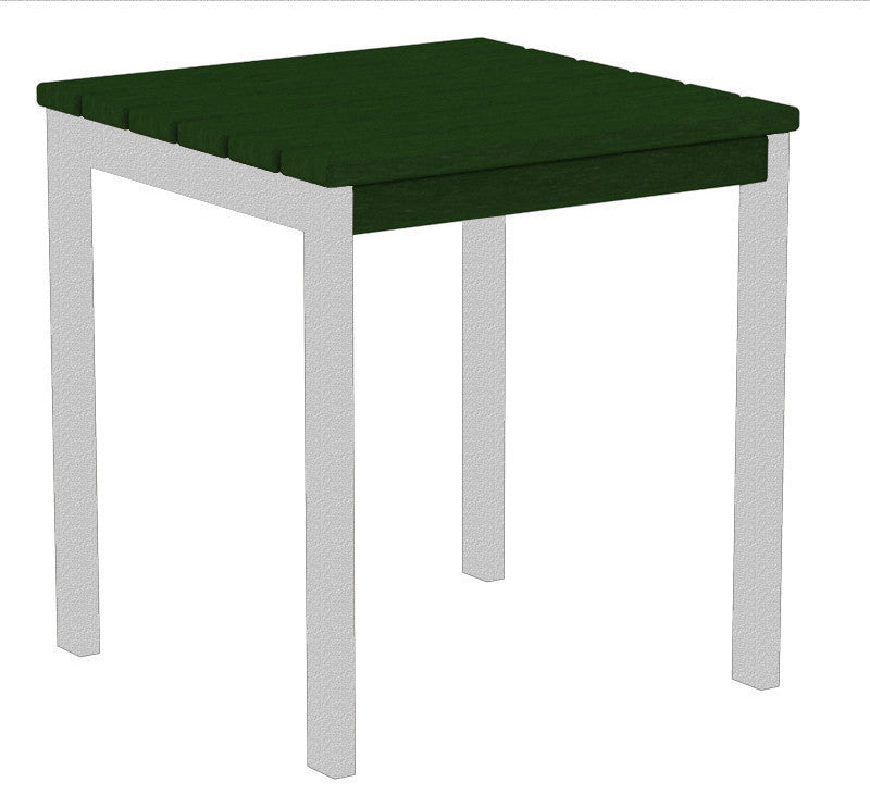 "AT18FASGR Euro 18"" Side Table in Textured Silver and Green"