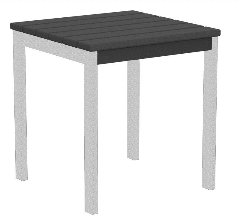 "AT18FASGY Euro 18"" Side Table in Textured Silver and Slate Grey"