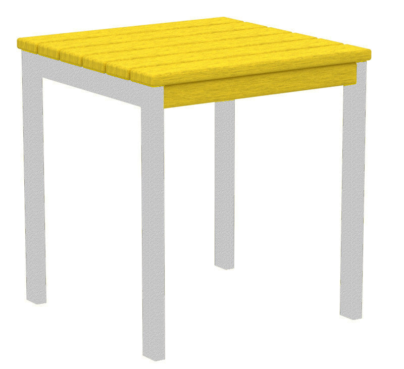 "AT18FASLE Euro 18"" Side Table in Textured Silver and Lemon"