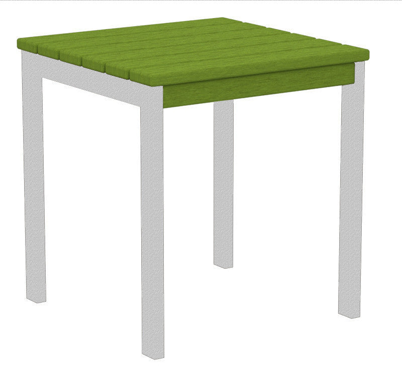 "AT18FASLI Euro 18"" Side Table in Textured Silver and Lime"