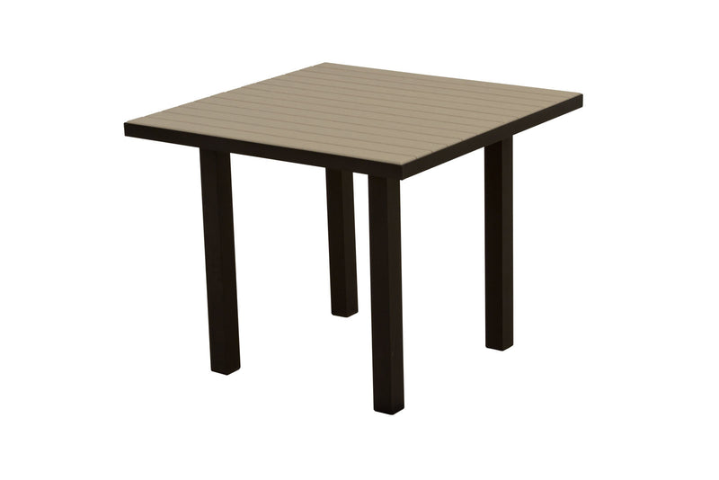 "AT36FABSA Euro 36"" Square Dining Table in Textured Black and Sand"