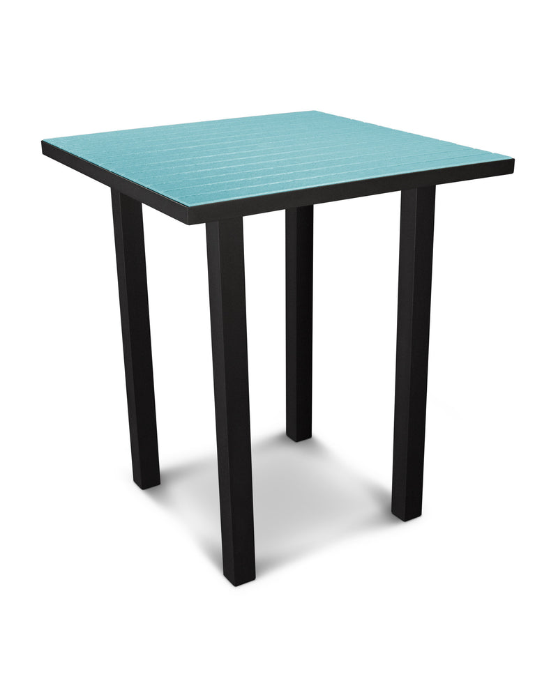 "ATB36FABAR Euro 36"" Square Bar Table in Textured Black and Aruba"