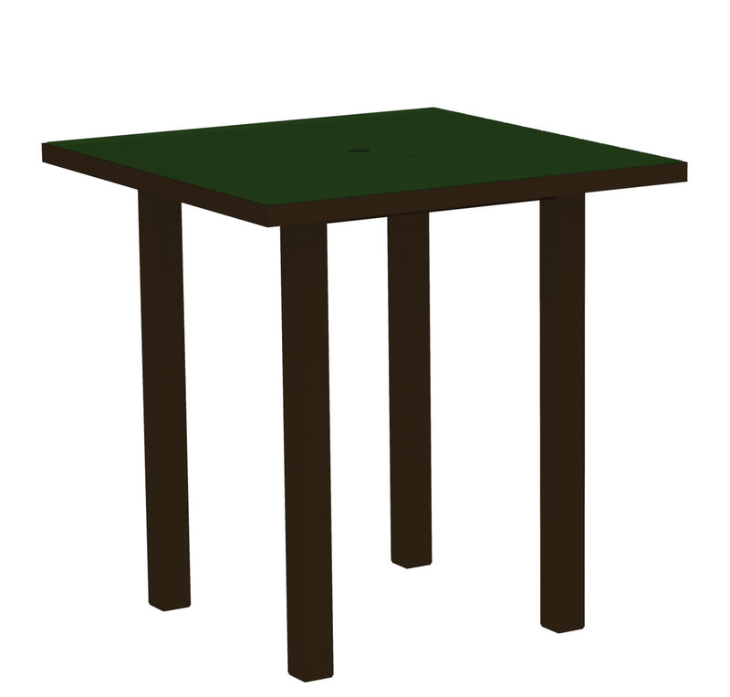 "ATR36-16GR Euro 36"" Square Counter Table in Textured Bronze and Green"