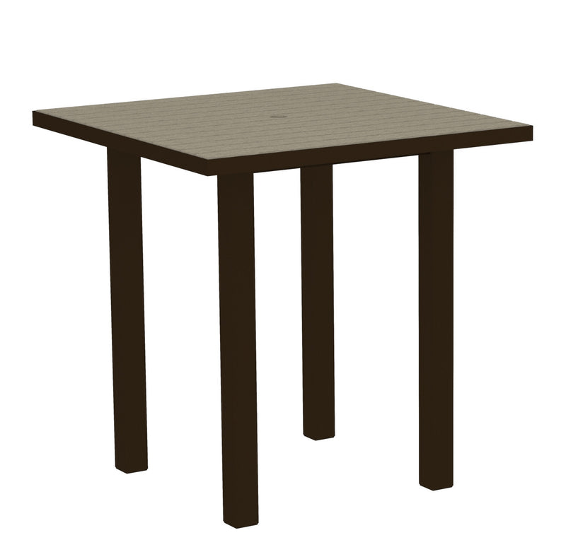 "ATR36-16SA Euro 36"" Square Counter Table in Textured Bronze and Sand"