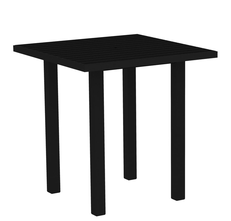 "ATR36FABBL Euro 36"" Square Counter Table in Textured Black and Black"