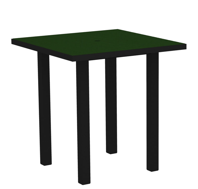 "ATR36FABGR Euro 36"" Square Counter Table in Textured Black and Green"
