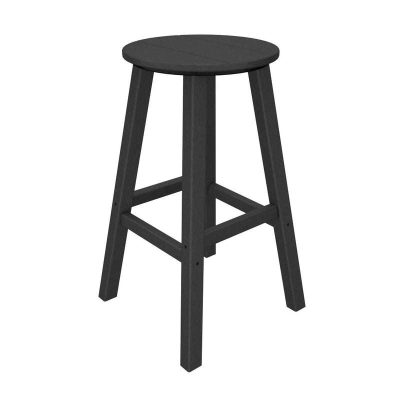 "BAR230GY Traditional 30"" Round Bar Stool in Slate Grey"