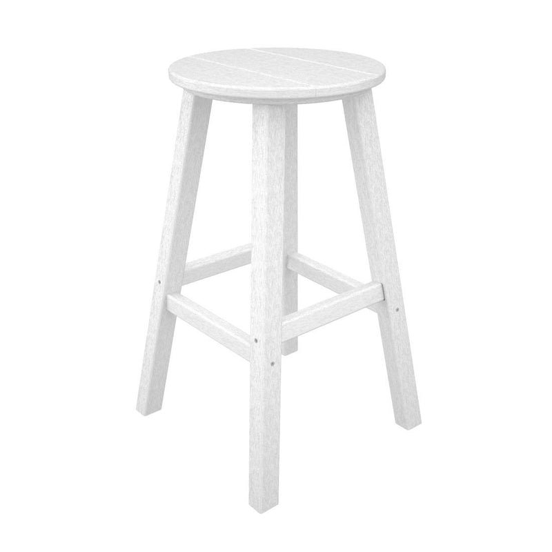 "BAR230WH Traditional 30"" Round Bar Stool in White"