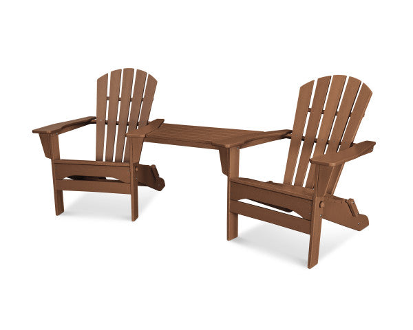 Palm Coast Folding Adirondack Tete-A-Tete Set