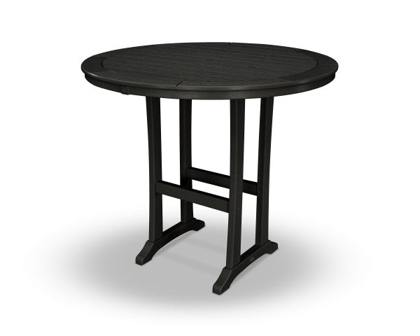 "Nautical Trestle 48"" Round Bar Table"