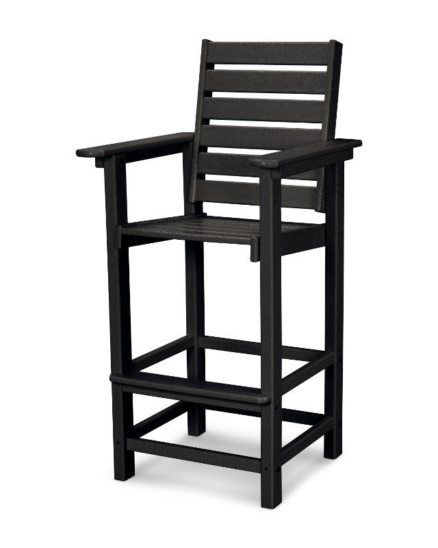 CCB30BL Captain Bar Chair in Black
