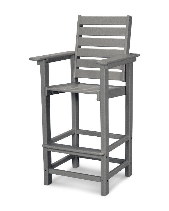 CCB30GY Captain Bar Chair in Slate Grey