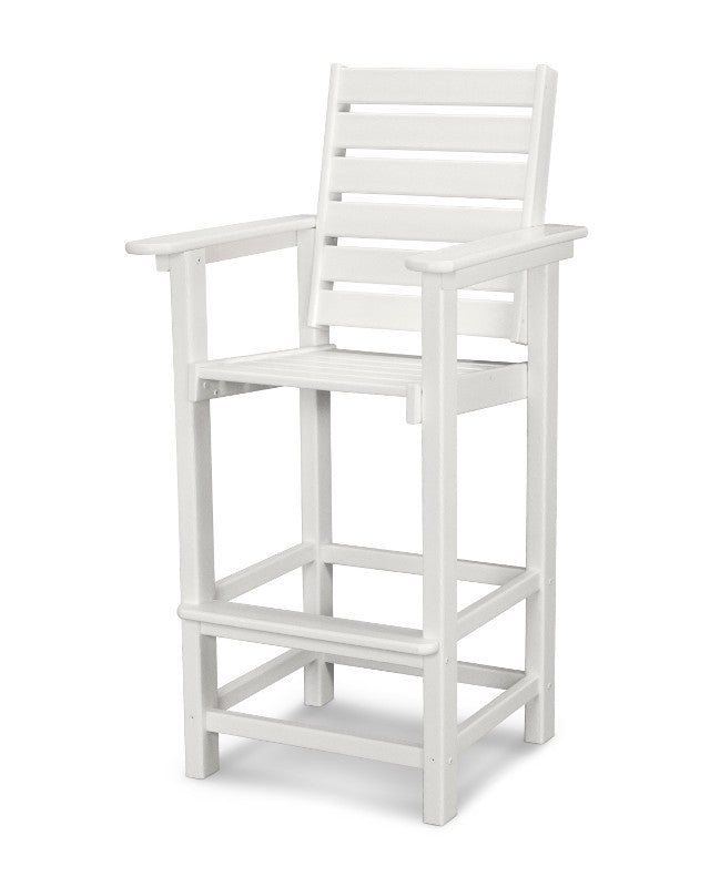 CCB30WH Captain Bar Chair in White