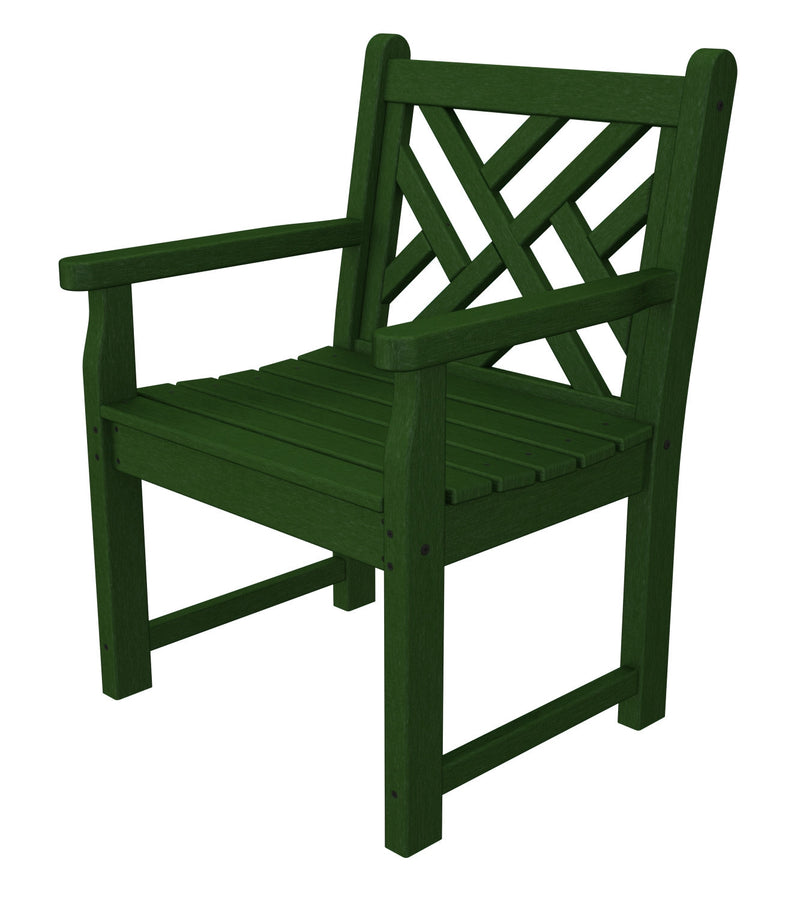 CDB24GR Chippendale Garden Arm Chair in Green