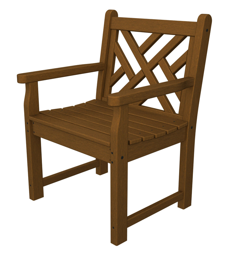 CDB24TE Chippendale Garden Arm Chair in Teak