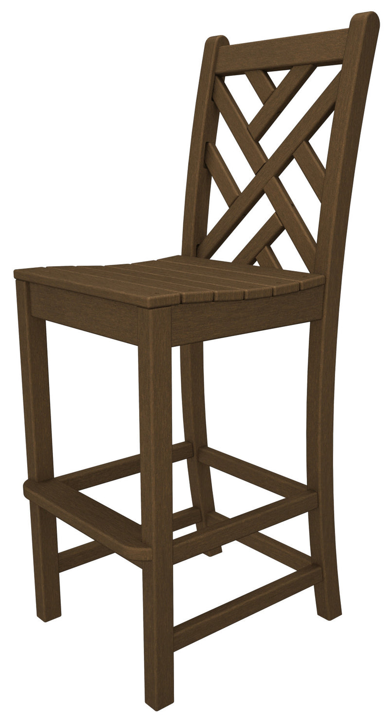 CDD102TE Chippendale Bar Side Chair in Teak