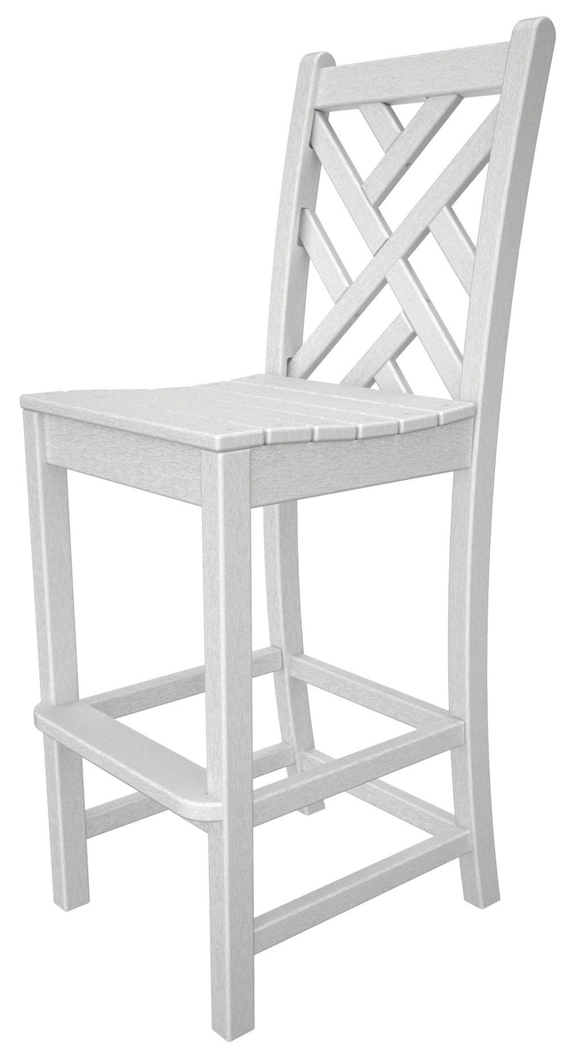 CDD102WH Chippendale Bar Side Chair in White