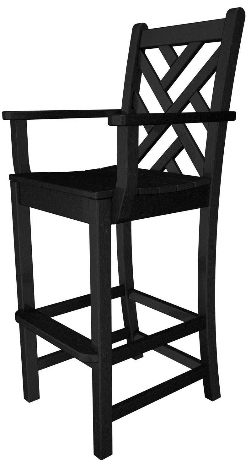 CDD202BL Chippendale Bar Arm Chair in Black