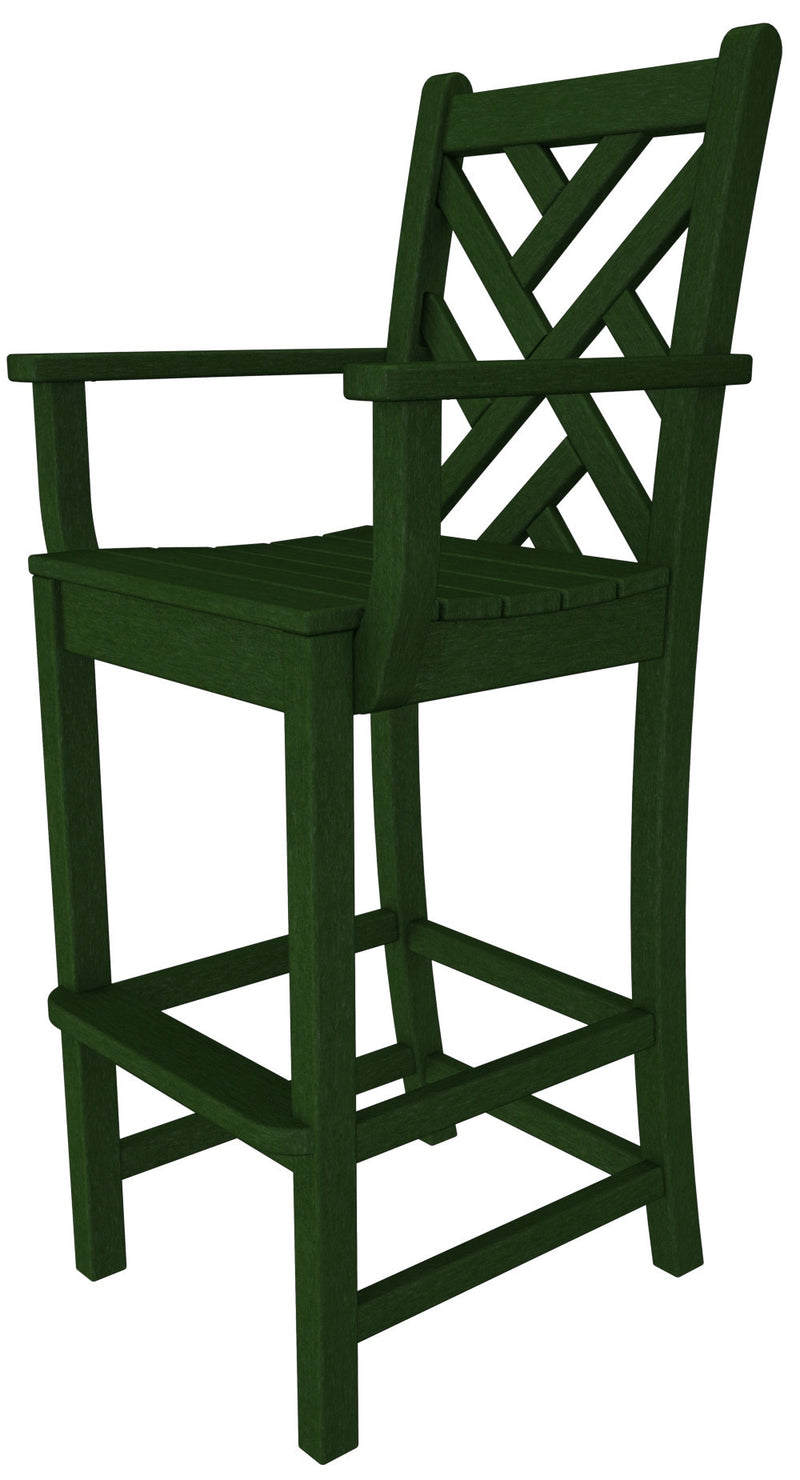 CDD202GR Chippendale Bar Arm Chair in Green