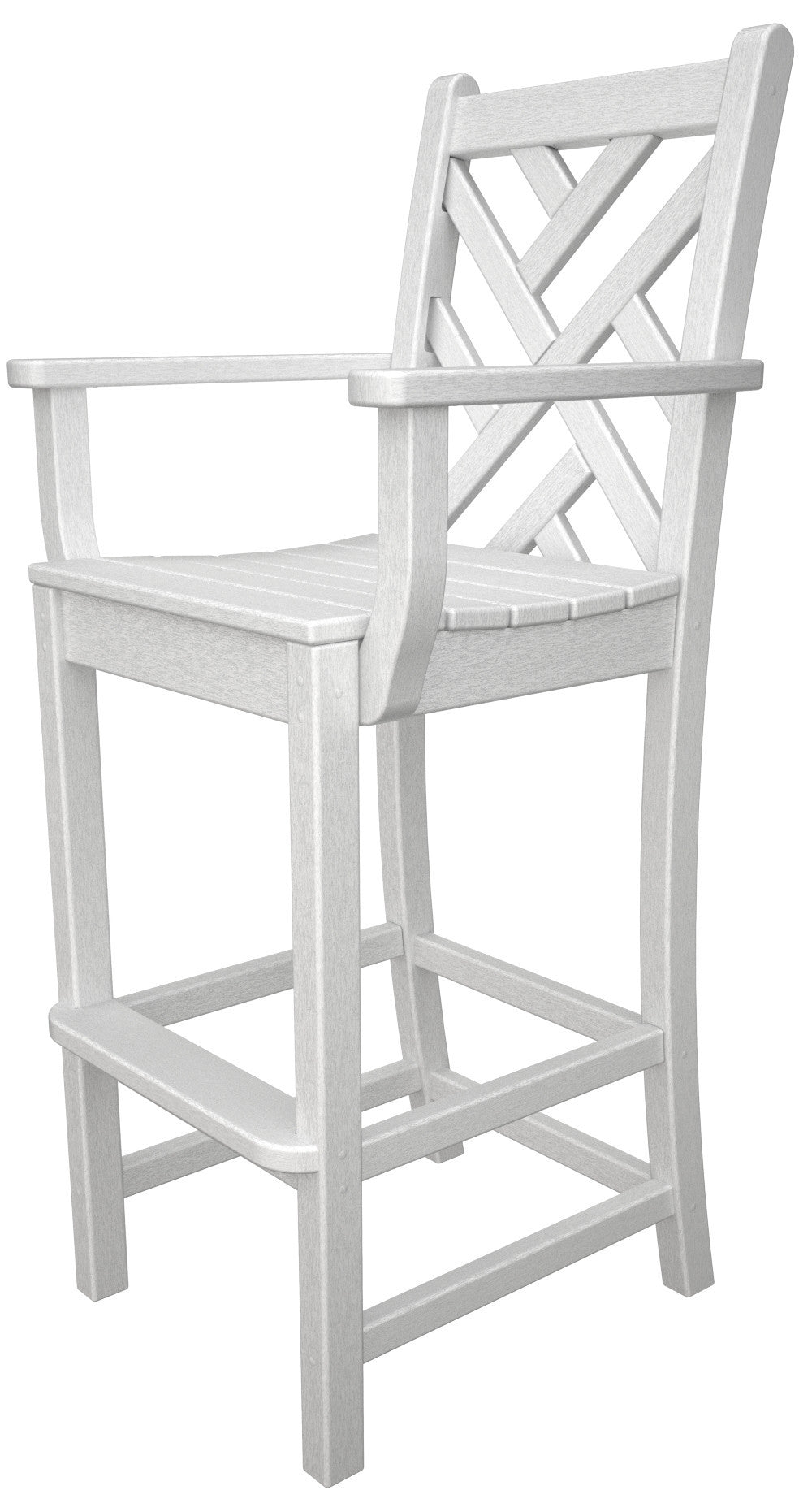 CDD202WH Chippendale Bar Arm Chair in White